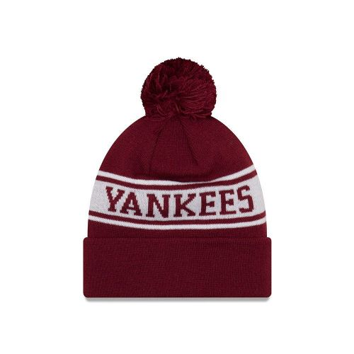 01ccdab229e NEW ERA NEW YORK YANKEES JAKE NEYYAN BOBBLE HAT.MLB MENS WOMENS KNIT BEANIE  8W